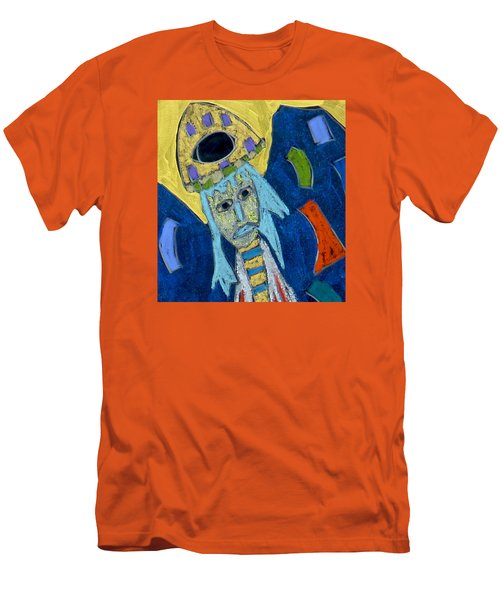 Men's T-Shirt (Athletic Fit) featuring the mixed media Archangel Raphael by Clarity Artists
