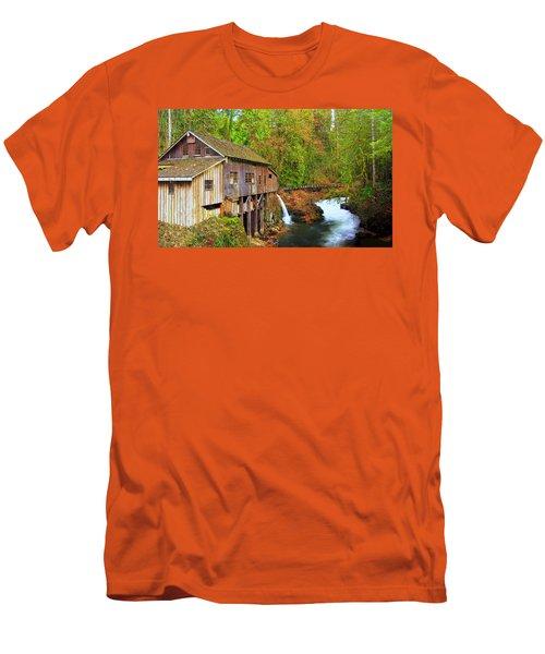 Cedar Creek Grist Mill Men's T-Shirt (Slim Fit) by Steve Warnstaff