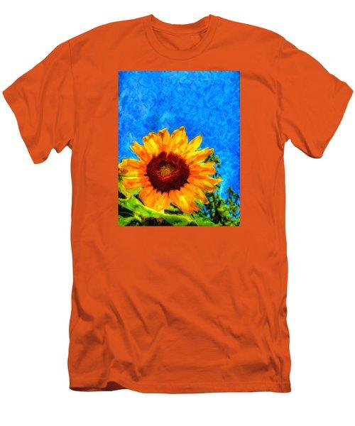 Sunflower  Men's T-Shirt (Slim Fit) by Andre Faubert