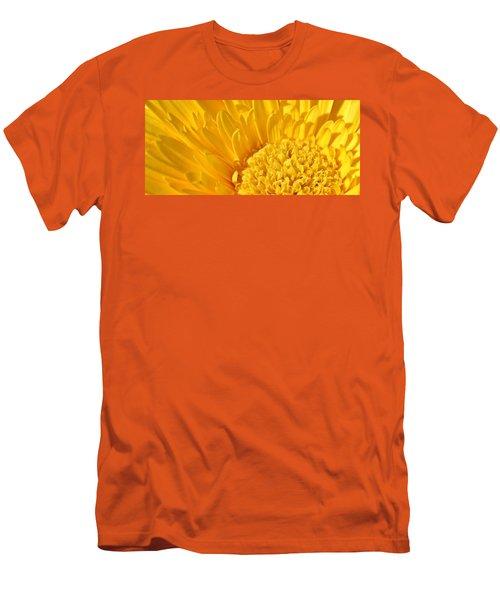 yellow Flower Men's T-Shirt (Slim Fit) by Werner Lehmann
