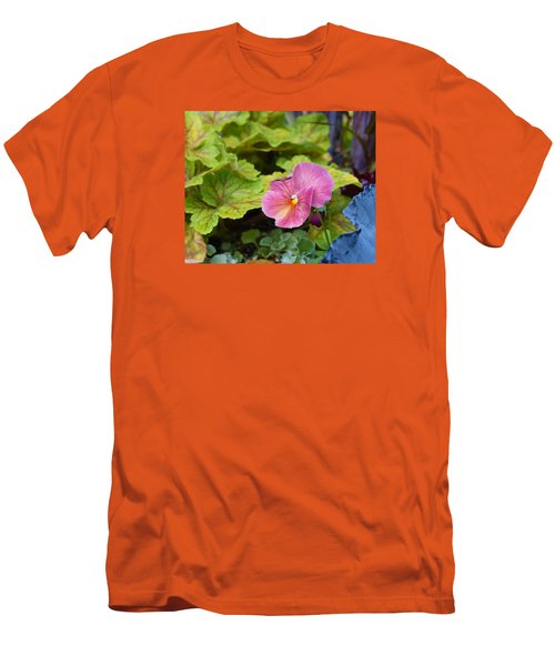 2015 After The Frost At The Garden Pansies 3 Men's T-Shirt (Slim Fit) by Janis Nussbaum Senungetuk