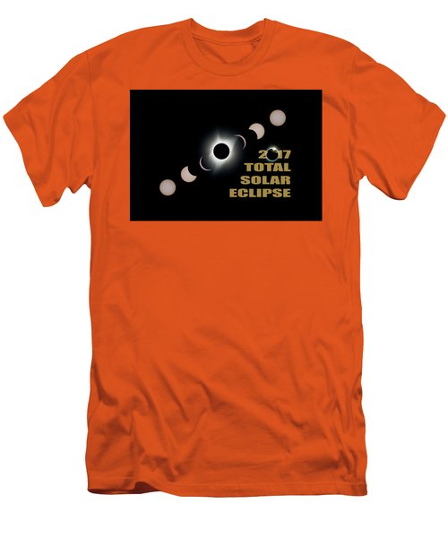 2017 Total Solar Eclipse Phases Men's T-Shirt (Athletic Fit)