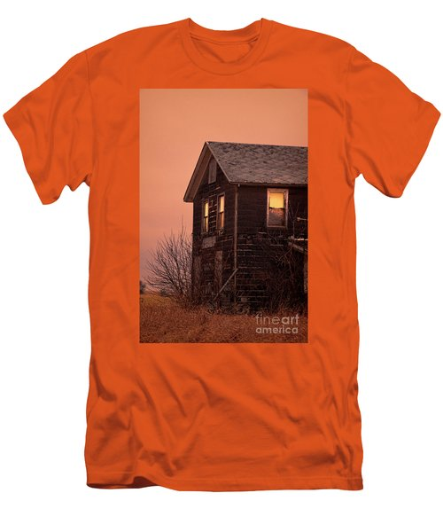 Men's T-Shirt (Slim Fit) featuring the photograph Abandoned House by Jill Battaglia