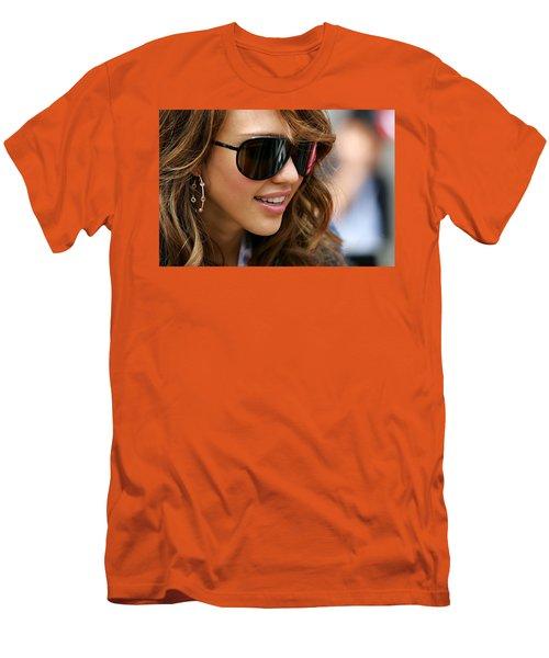 Jessica Alba Men's T-Shirt (Athletic Fit)