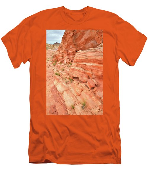 Men's T-Shirt (Slim Fit) featuring the photograph Sandstone Wall In Valley Of Fire by Ray Mathis