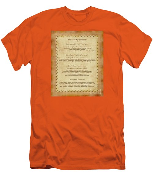 41- The Four Agreements Men's T-Shirt (Athletic Fit)