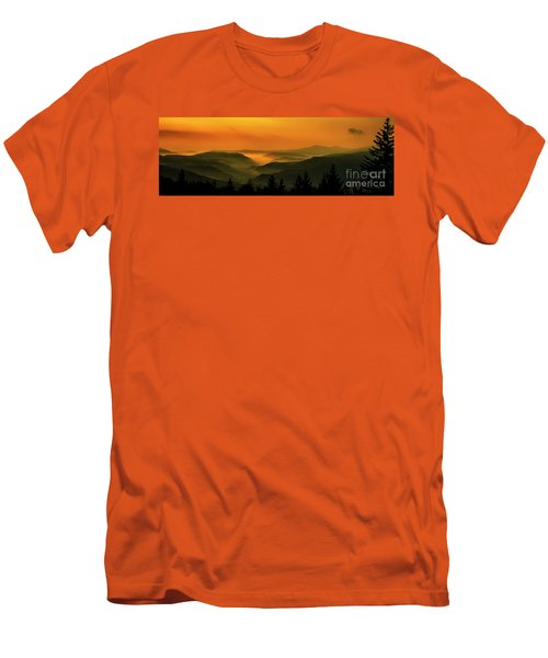Men's T-Shirt (Slim Fit) featuring the photograph Allegheny Mountain Sunrise by Thomas R Fletcher