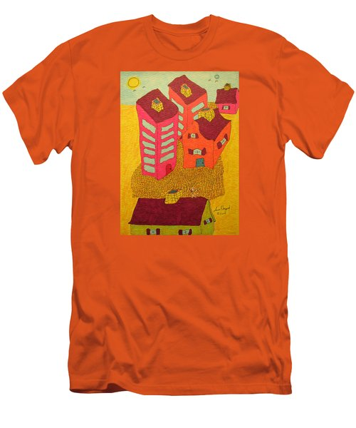 5 Bldgs Cat On One Roof Men's T-Shirt (Athletic Fit)