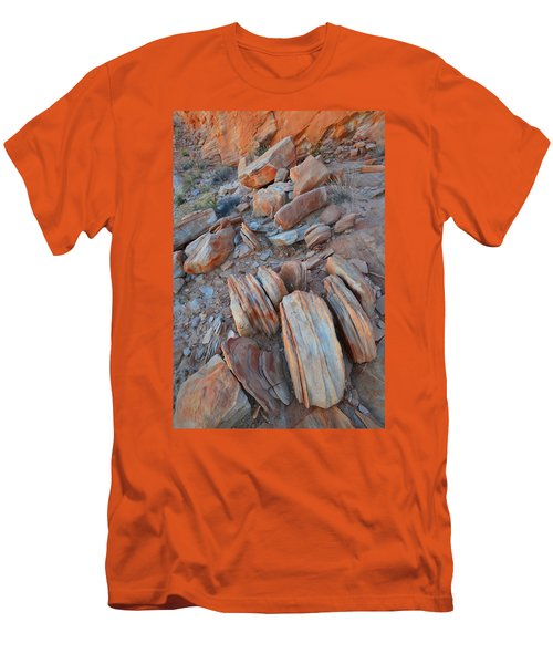 Men's T-Shirt (Slim Fit) featuring the photograph Colorful Cove In Valley Of Fire by Ray Mathis