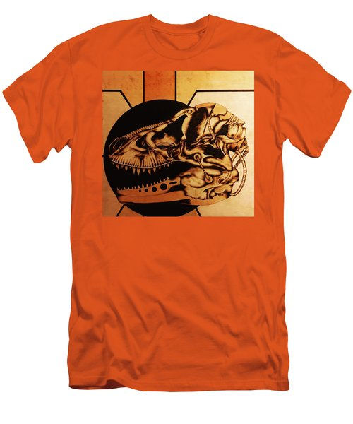 Men's T-Shirt (Slim Fit) featuring the pyrography Untitled by Jeff DOttavio