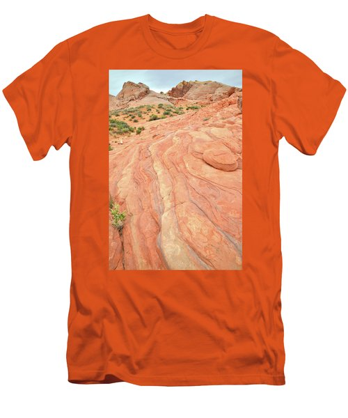 Men's T-Shirt (Slim Fit) featuring the photograph Wave Of Color In Valley Of Fire by Ray Mathis