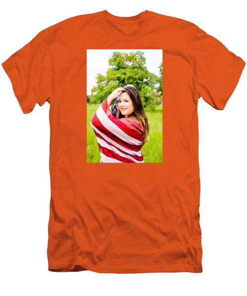 Men's T-Shirt (Slim Fit) featuring the photograph 5654-2 by Teresa Blanton