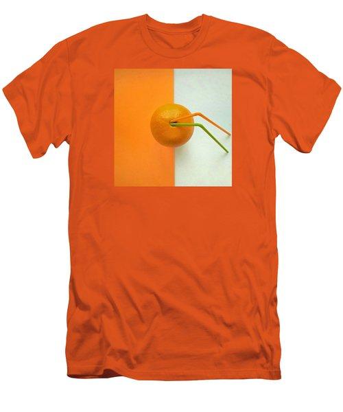Orange Men's T-Shirt (Slim Fit) by Ann Foo