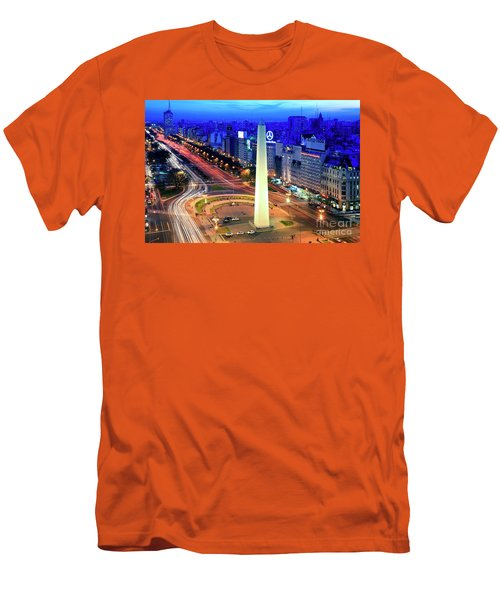 9 De Julio Avenue Men's T-Shirt (Slim Fit) by Bernardo Galmarini