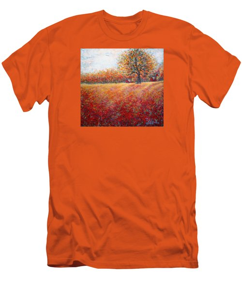 Men's T-Shirt (Slim Fit) featuring the painting A Beautiful Autumn Day by Natalie Holland