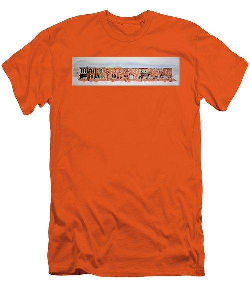 A Bit Of Scott Street  7x30 Men's T-Shirt (Slim Fit) by William Renzulli