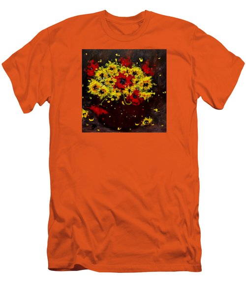 Men's T-Shirt (Slim Fit) featuring the painting A Bunch Of Happiness.. by Cristina Mihailescu