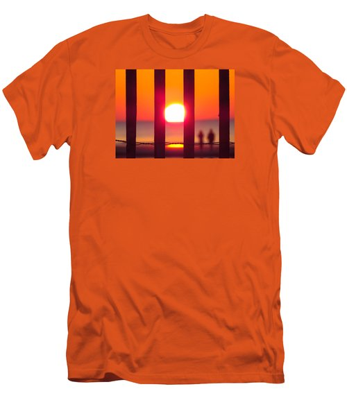 Men's T-Shirt (Slim Fit) featuring the photograph A Couple's Sunrise by Nikki McInnes