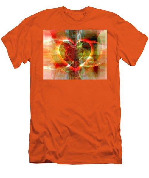 Men's T-Shirt (Slim Fit) featuring the digital art A Forgiving Heart by Fania Simon