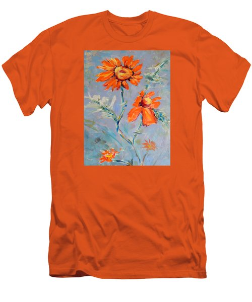 Men's T-Shirt (Slim Fit) featuring the painting A Glow by Mary Schiros