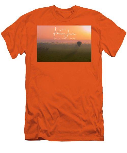 Men's T-Shirt (Slim Fit) featuring the mixed media A Mara Morn by Karen Lewis
