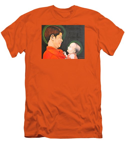 A Moment With Dad Men's T-Shirt (Slim Fit) by Cyril Maza