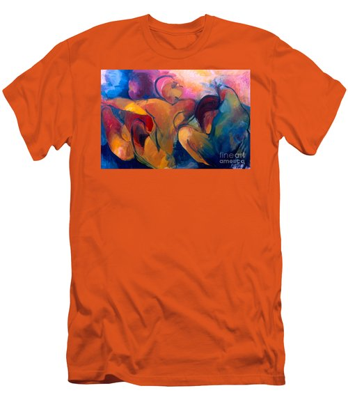 Men's T-Shirt (Slim Fit) featuring the painting A Passion To Be Raised by Daun Soden-Greene