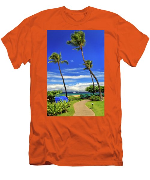 A Path In Kaanapali Men's T-Shirt (Slim Fit) by James Eddy