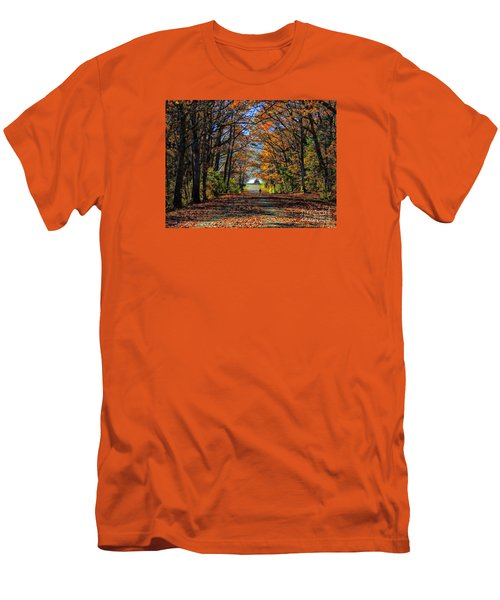 A Stroll Through Autumn Colors Men's T-Shirt (Slim Fit) by Marcia Lee Jones