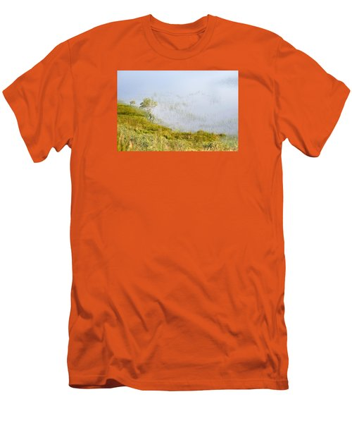 Men's T-Shirt (Slim Fit) featuring the photograph A Tree In The Lake Of The Scottish Highland by Dubi Roman