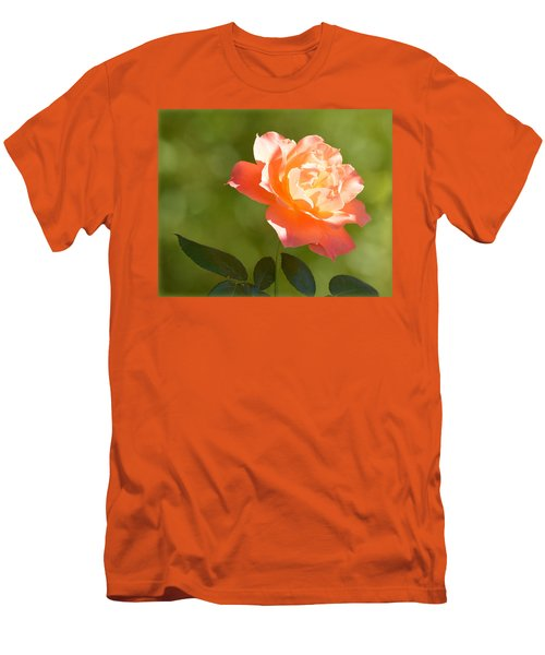 Men's T-Shirt (Athletic Fit) featuring the photograph A Well Lighted Rose by AJ Schibig