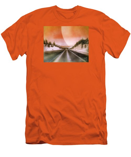 A December Drive 3 - Digital Artwork Men's T-Shirt (Athletic Fit)