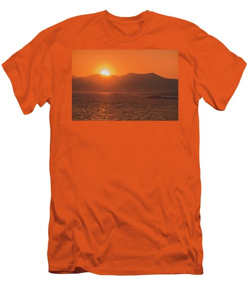 A Wraith Of Smoke Shortly After A Forest Fire Is Extinguished  Men's T-Shirt (Athletic Fit)