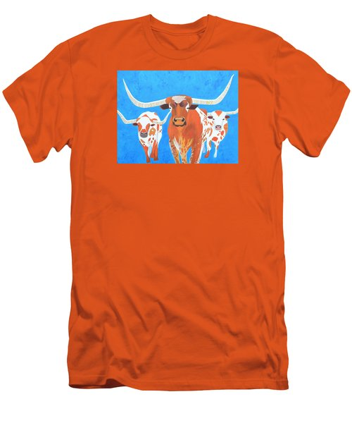 Abstract Mehndi Texas Longhorns Men's T-Shirt (Athletic Fit)