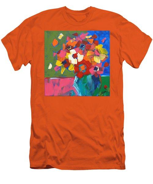 Abstract Vase Men's T-Shirt (Slim Fit) by Terri Einer