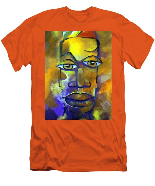 Men's T-Shirt (Slim Fit) featuring the painting Abstract Young Man by Raymond Doward