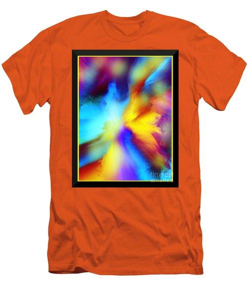 Celestial Rhythm Men's T-Shirt (Slim Fit) by Yul Olaivar