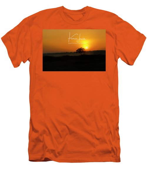 Men's T-Shirt (Slim Fit) featuring the photograph Acacia Tree Sunrise by Karen Lewis