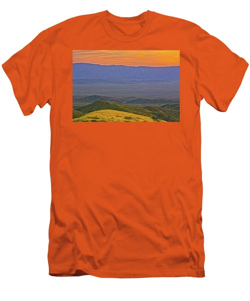 Across The Carrizo Plain At Sunset Men's T-Shirt (Slim Fit) by Marc Crumpler