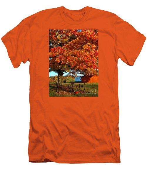 Men's T-Shirt (Slim Fit) featuring the photograph Adirondack Autumn Color by Diane E Berry