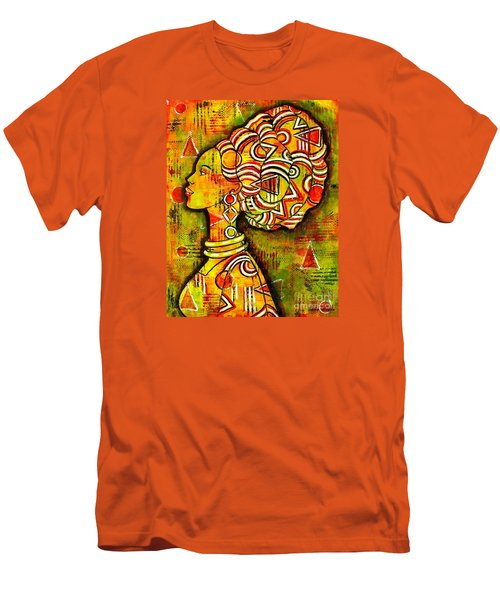 Men's T-Shirt (Slim Fit) featuring the painting African Queen by Julie Hoyle