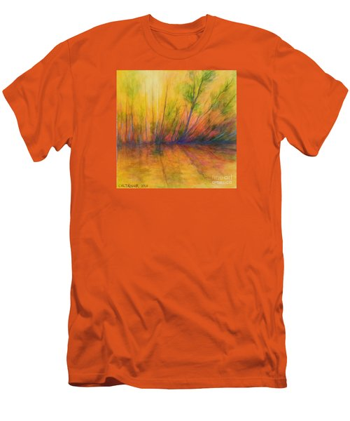 Men's T-Shirt (Slim Fit) featuring the painting Afternoon Glow  by Alison Caltrider