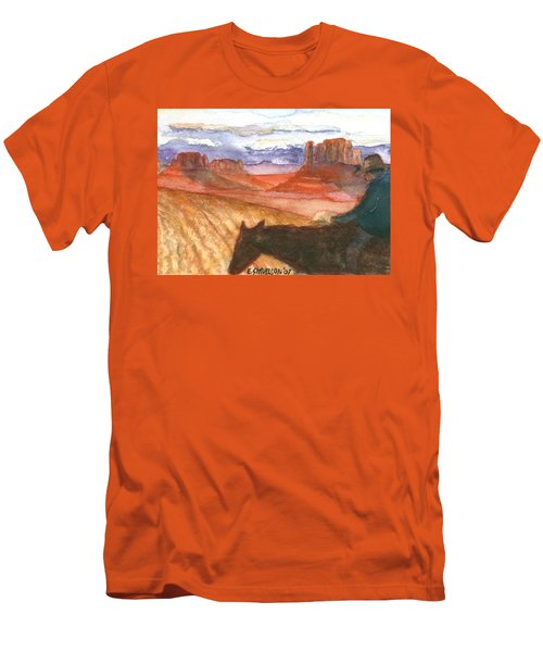 Men's T-Shirt (Slim Fit) featuring the painting Almost Home by Eric Samuelson