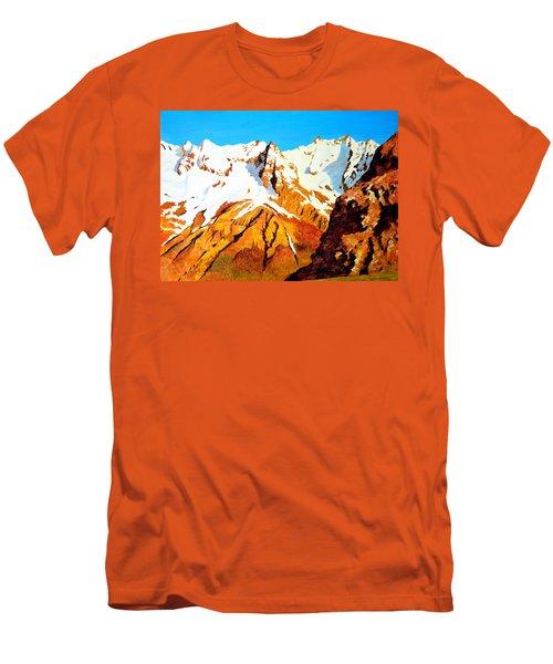 Alpine Landscape Men's T-Shirt (Slim Fit) by Henryk Gorecki