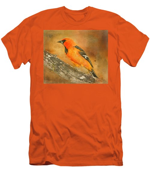 Men's T-Shirt (Athletic Fit) featuring the photograph Altamira Oriole by Bellesouth Studio