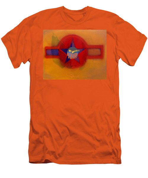 Men's T-Shirt (Slim Fit) featuring the painting American Sub Decal by Charles Stuart