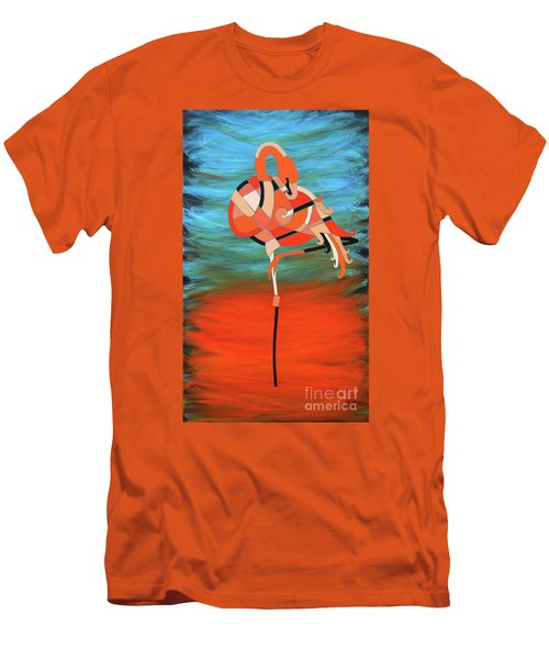 An Elegant Flamingo Men's T-Shirt (Athletic Fit)