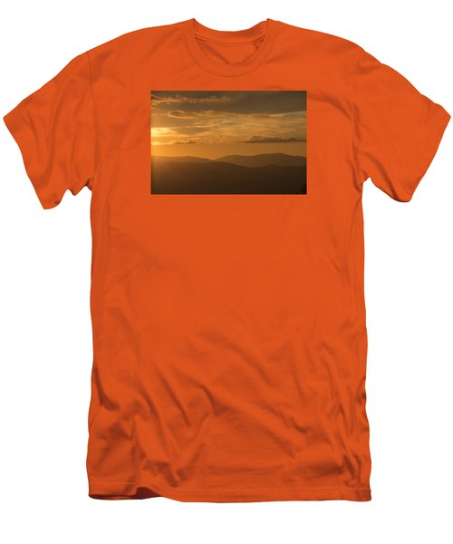 An Orange Vermont Sunset Men's T-Shirt (Athletic Fit)