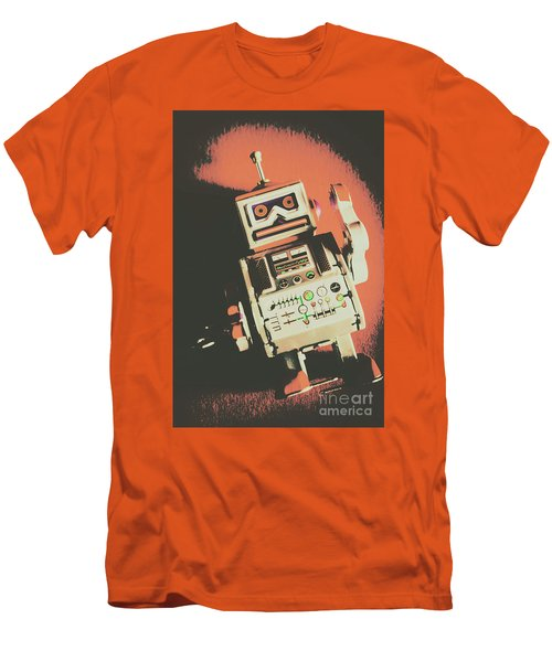 Android Short Circuit  Men's T-Shirt (Athletic Fit)
