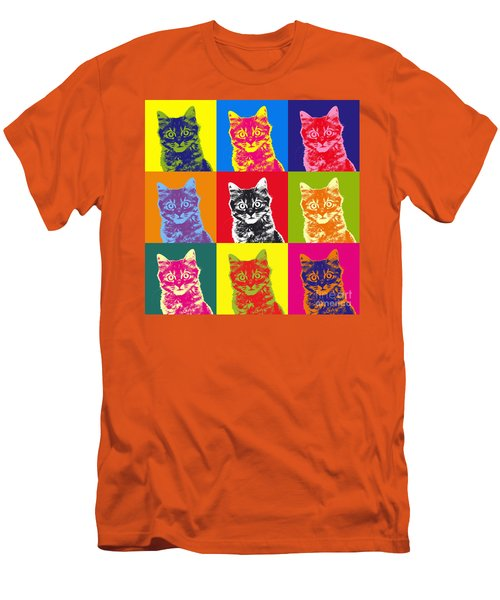 Andy Warhol Cat Men's T-Shirt (Athletic Fit)